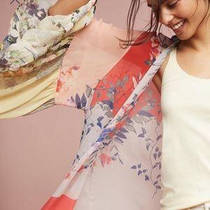 Anthropologie Floreat Georgette Ruffle Kimono